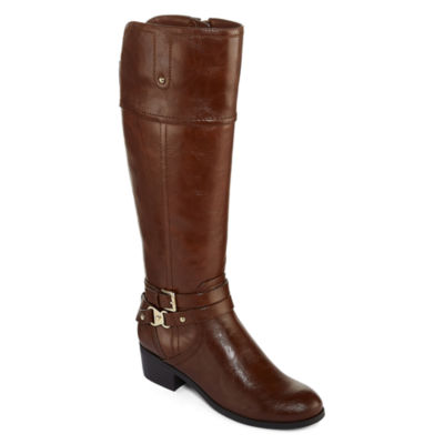 Liz Claiborne Tory Womens Riding Boot Wide Calf
