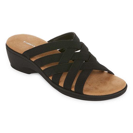 St. John's Bay Womens Inez Slide Sandals