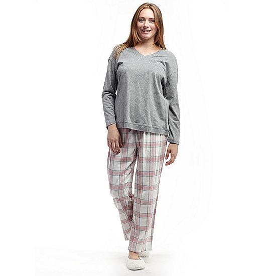 cc35b25ebde La Cera Checkered Flannel PJs - JCPenney