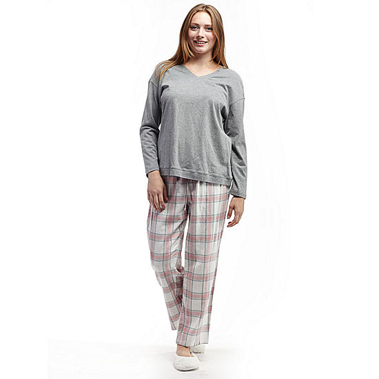 6d46283048 La Cera Checkered Flannel PJs - JCPenney