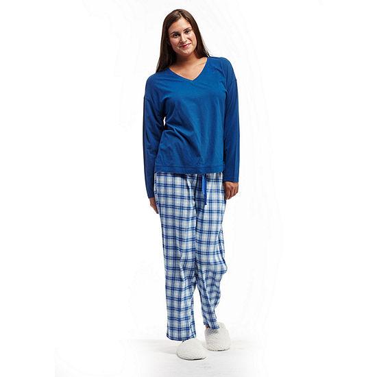 La Cera Checkered Flannel PJs