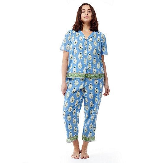 La Cera Plus-Size Short Sleeve Printed PJs - Plus