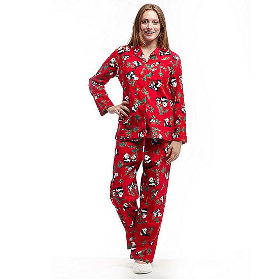 La Cera Plus Size Long Sleeve Flannel Pjs Plus Jcpenney