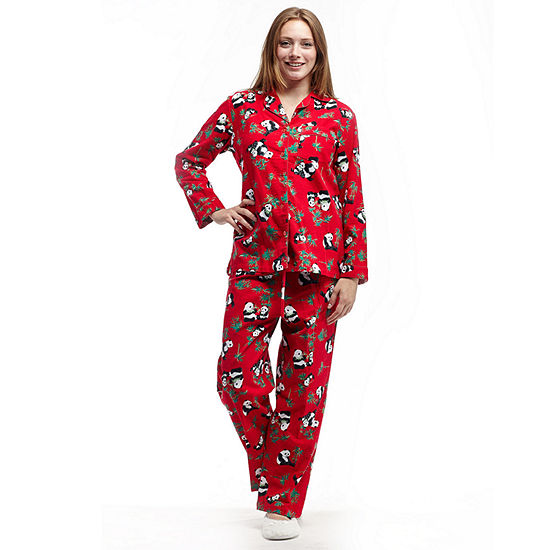hot-selling discount amazing quality best quality La Cera Plus-Size Long Sleeve Flannel PJs - Plus