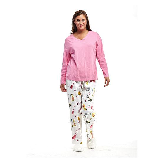 275b0750691 La Cera Plus-Size Knitted Flannel PJs - Plus - JCPenney