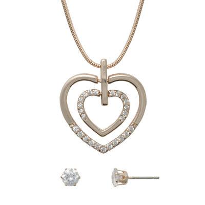 Sensitive Ears Womens Brass Jewelry Set