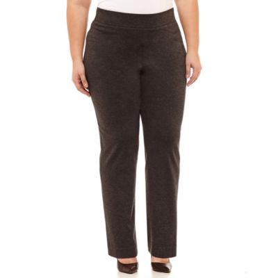 Black Label by Evan-Picone Slim Fit Trousers-Plus