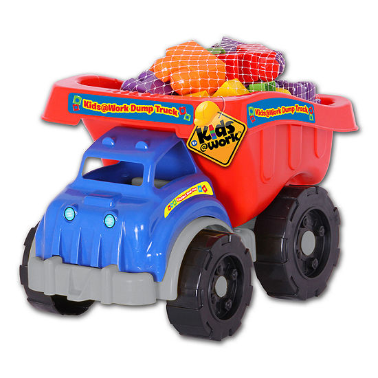Amloid - Kids at Work 25 Piece Dump Truck of Blocks