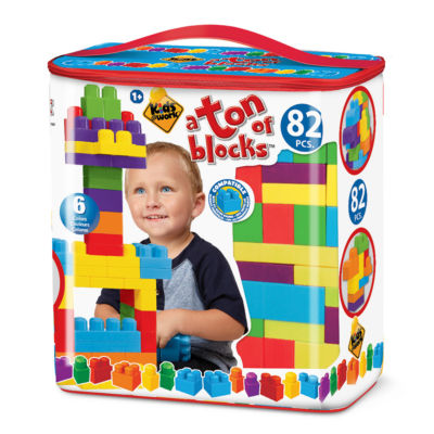 Amloid - Kids at Work 82 Piece Tote of Blocks
