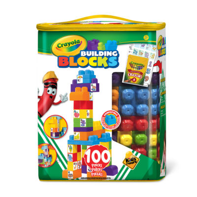 Crayola Kids at Work - 100 Piece Tote of Blocks