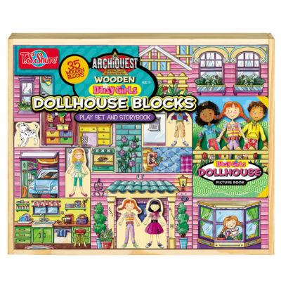T.S. Shure - ArchiQuest 35 Piece Daisy Girl Dollhouse Blocks