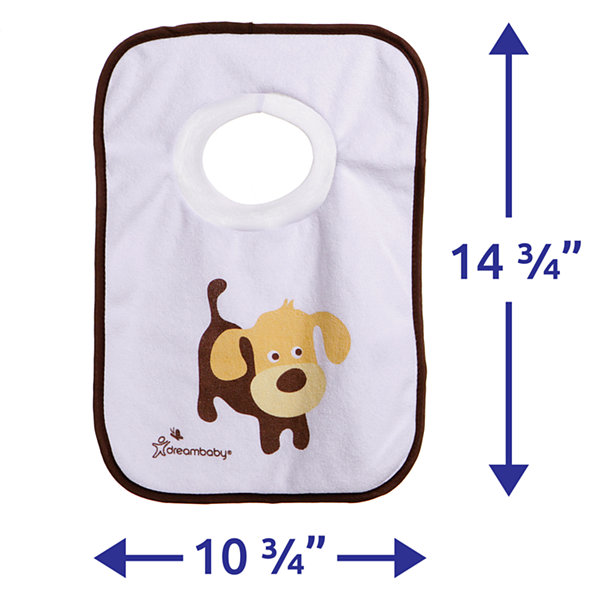 Dreambaby® Terry Cloth Pull Over Bibs 4 Pack Pets