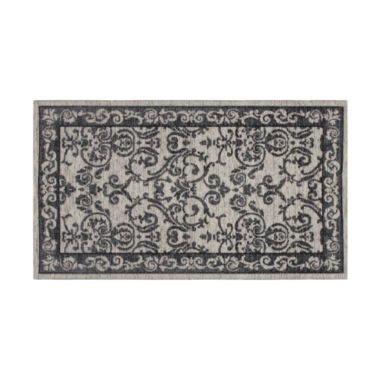 Laura Ashley Halstead Border Jacquard Chenille Textured Rectangular Area Rug
