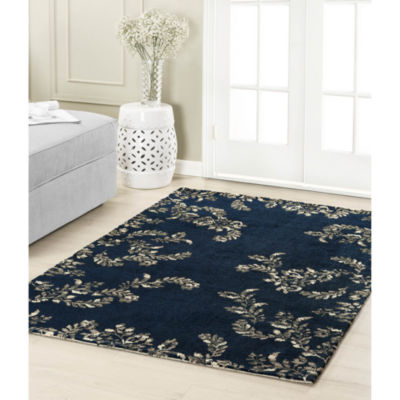 Laura Ashley Winchester Plush Knit Microfiber Rectangular Accent Rug