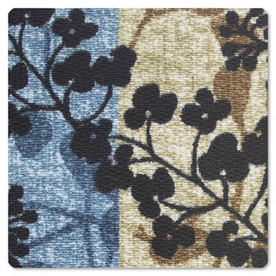 Modern Living Tulips Decorative Rectangular Accent Rug