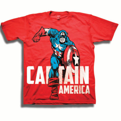 Toddler Boys Marvel Caption America Graphic T-Shirt