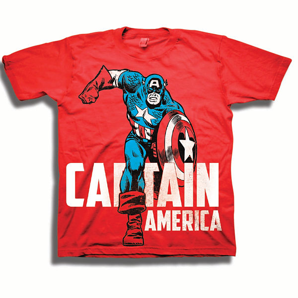 Toddler Boys Marvel Caption America Graphic T-Shirt