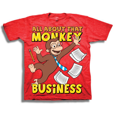 Toddler Boys S/S Curious George Business Graphic T-Shirt