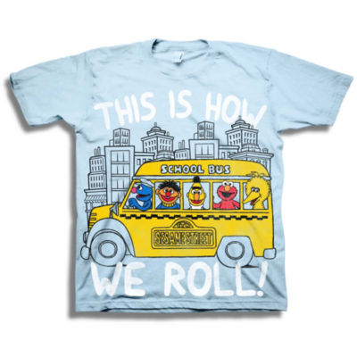 Toddler Boys S/S Sesame Street Roll Graphic T-Shirt