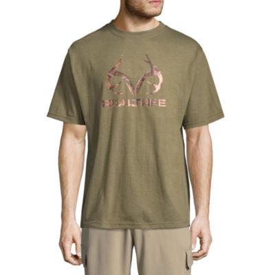 Realtree Logo Short Sleeve Crew Neck T-Shirt
