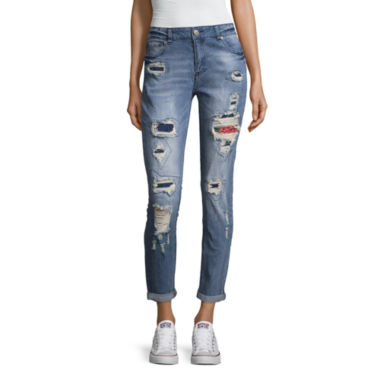 Almost Famous Destructed Patch Skinny-Juniors