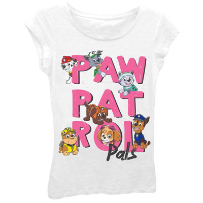 "Paw Patrol Girls' ""Paw Patrol Pals"" Short Sleeve Graphic T-Shirt with Crystalline"