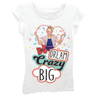"JoJo Siwa Girls' ""Dream Crazy Big"" Short Sleeve Graphic T-Shirt"