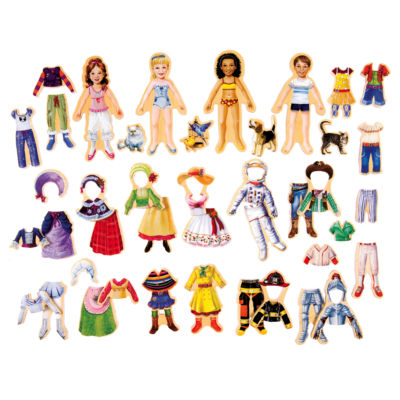 T.S. Shure - Heritage Hearts Wooden Magnetic Dress-Up Doll Friends