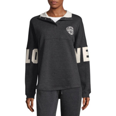 "Flirtitude Long Sleeve ""Love"" Sweatshirt - Juniors"