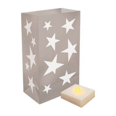 Battery Operated Luminaria Kit with Timer- Set of6