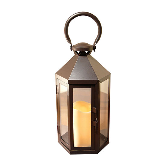 Metal Traditional Lantern with Battery Operated Candle