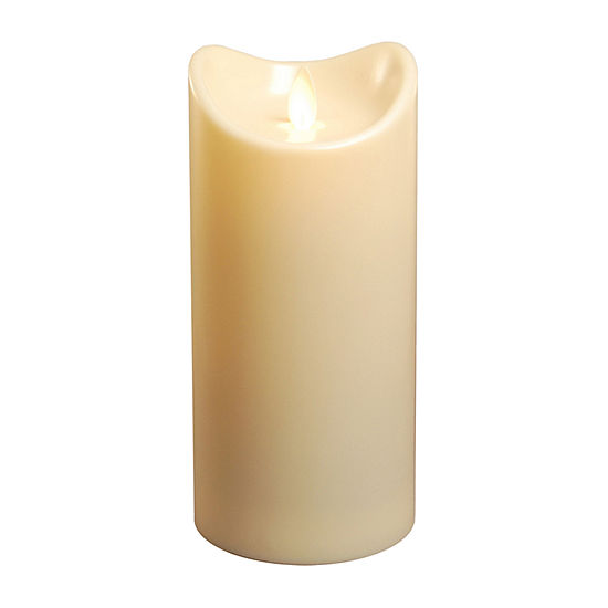 """Battery Operated Pillar Candle with Moving Flame (7"""")"""