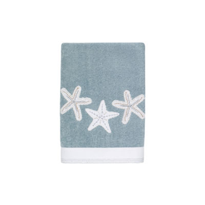 Avanti Sequin Shells Embroidered Bath Towel Collection