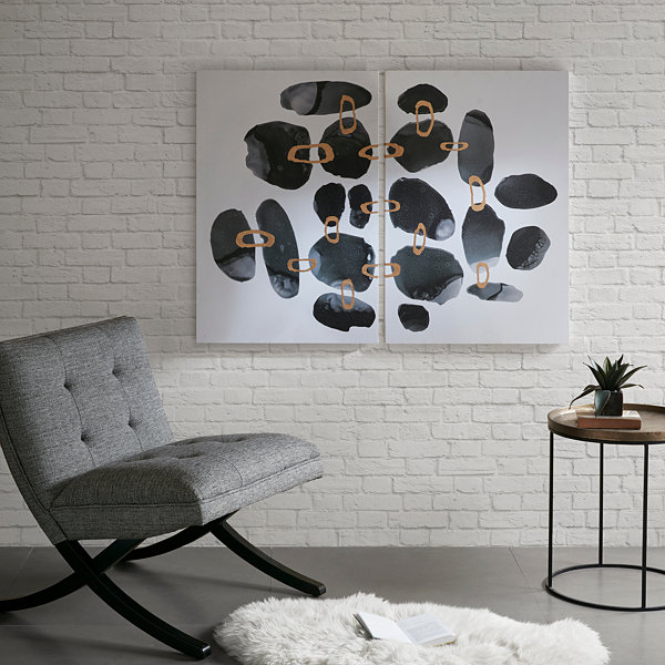Ink + Ivy Liquid Stones Gel Coat 2-Pc. Canvas Art Set