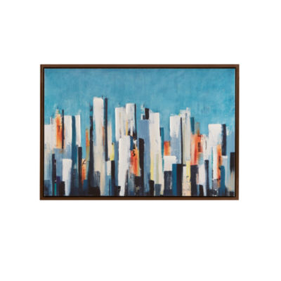 Ink + Ivy Metropolitan Center Framed Canvas Art