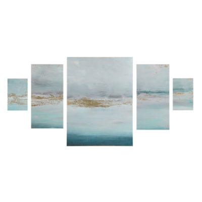 Madison Park Glistening Marble Gel Coat 5-Pc. Canvas Art Set