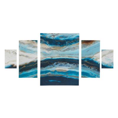 Madison Park Midnight Tide Gel Coat 5-pc. Canvas Art