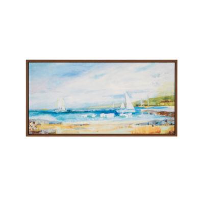 Madison Park Seaside Harbor Gel Coat Framed Canvas