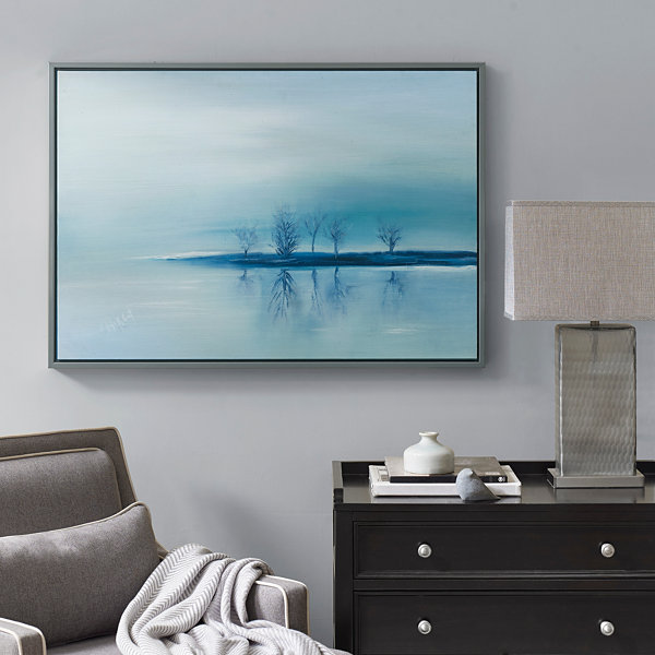 Madison Park Signature Stillness Framed Gel Coat Canvas