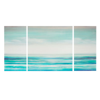 Madison Park Teal Tides Gel Coat 3-pc. Canvas Art