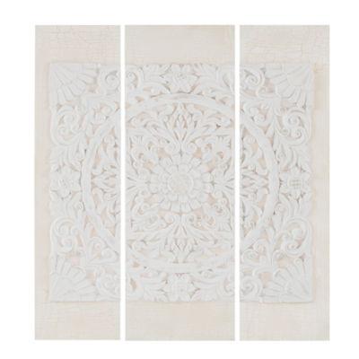 Madison Park Wooden Mandala Printed 3-pc. Canvas Art