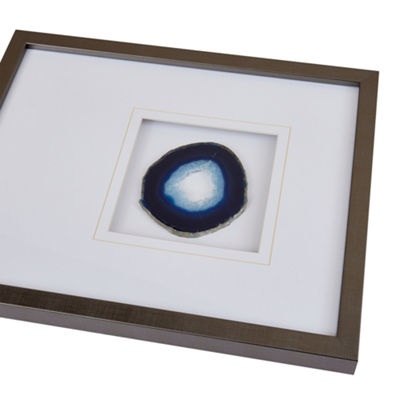 Madison Park Agate Stone Framed Graphic Canvas Art