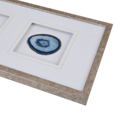 Madison Park Agate Trio Stone Framed Graphic Canvas Art