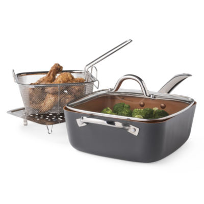 "Cooks 4-pc. Copper Set With 9.5"" Deep Dish Pan"