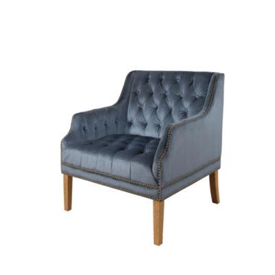 Devon & Claire Harvard Tufted Velvet Armchair