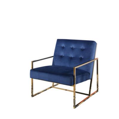 Devon U0026 Claire Grace Stainless Steel And Velvet Armchair