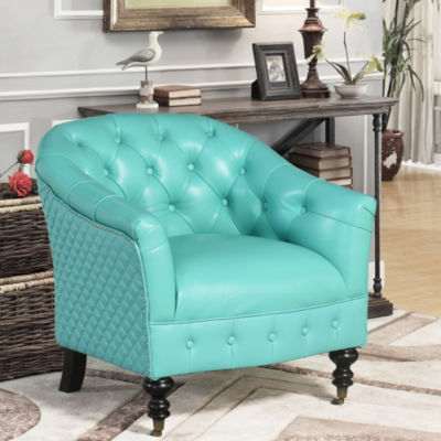 Devon & Claire Desani Top Grain Leather Tufted Chair