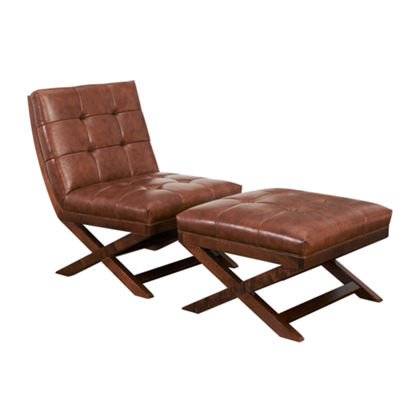 Devon & Claire Tribeca Chair And Ottoman Set