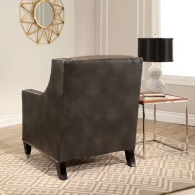 Devon & Claire Johnny Faux Leather Club Chair
