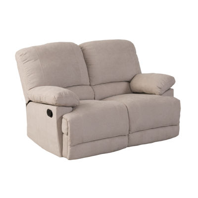 CorLiving Lea Chenille Fabric Reclining Loveseat